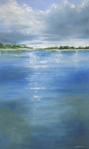 Sunday on the Potomac | Washington, DC Art | Original Oil Painting | 36 by 60 Inches | Artist Claire Howard-Oil Painting-Sterling-and-Burke