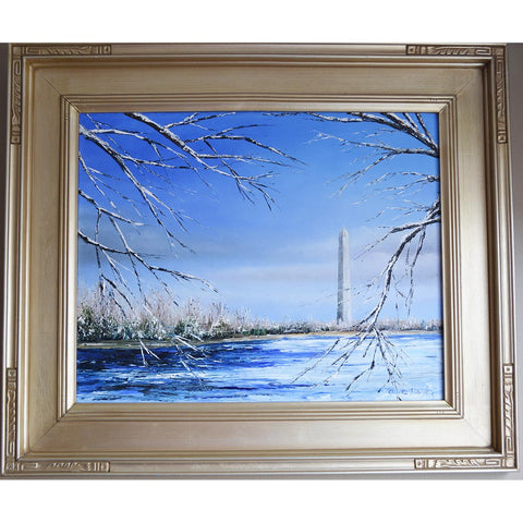 Flight Into Washington, Original Oil Painting by Claire Howard