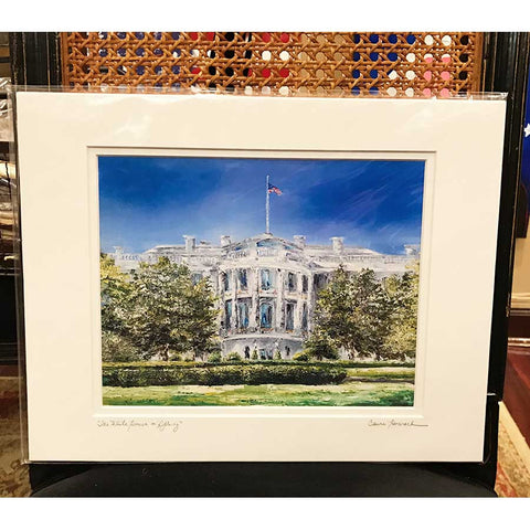 White House in Spring Print, 8 by 10 Inches