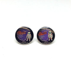 Ohio Quarter Coin Cufflinks-Coin Cufflinks-Sterling-and-Burke