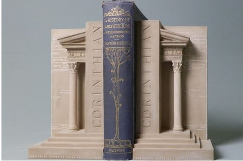 Corinthian Order Bookends Sculpture Set | Custom Corinthian Order Plaster Model | Extraordinary Quality and Detail | Made in England | Timothy Richards