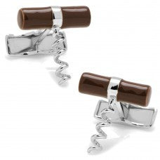 Sterling Silver Corkscrew Cufflinks-Cufflinks-Sterling-and-Burke