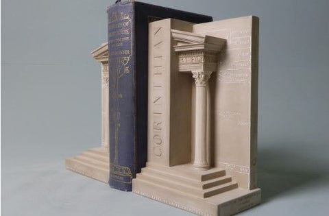 Corinthian Order Bookends Sculpture Set | Custom Corinthian Order Plaster Model | Extraordinary Quality and Detail | Made in England | Timothy Richards-Desk Accessory-Sterling-and-Burke