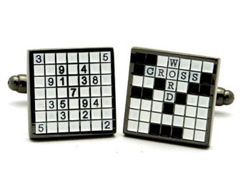 Cross Word Cufflinks-Cufflinks-Sterling-and-Burke