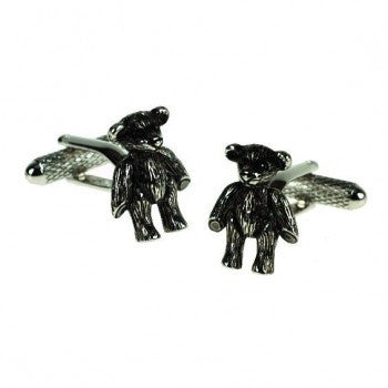 Teddy Bear Cufflinks-Cufflinks-Sterling-and-Burke