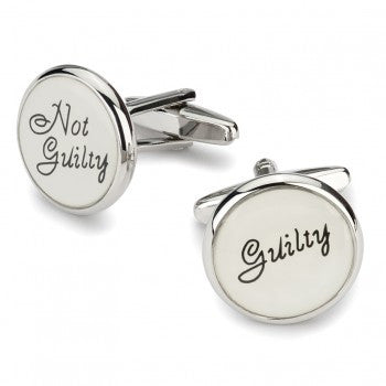 Guilty, Not Guilty Cufflinks-Cufflinks-Sterling-and-Burke
