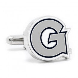 Georgetown University | Hoyas Enamel Cufflinks-Cufflinks-Sterling-and-Burke