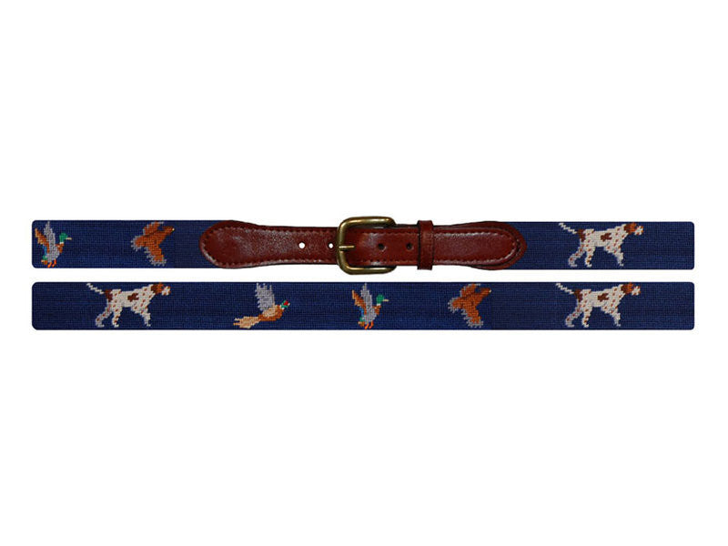 Bird Dog Needlepoint Belt-Belt-Sterling-and-Burke