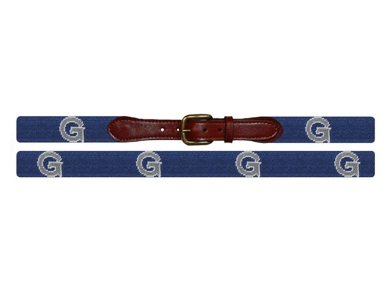 Georgetown University Belt | Hoya GU Belt | Georgetown Univ Needlepoint Belt | Smathers Branson-Belt-Sterling-and-Burke