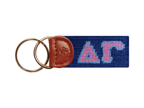 Delta Gamma Needlepoint Key Fob-Key Fob-Sterling-and-Burke