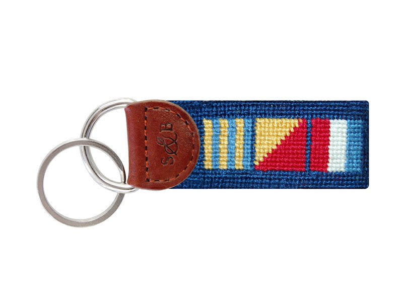 Got Rum Needlepoint Key Fob-Key Fob-Sterling-and-Burke