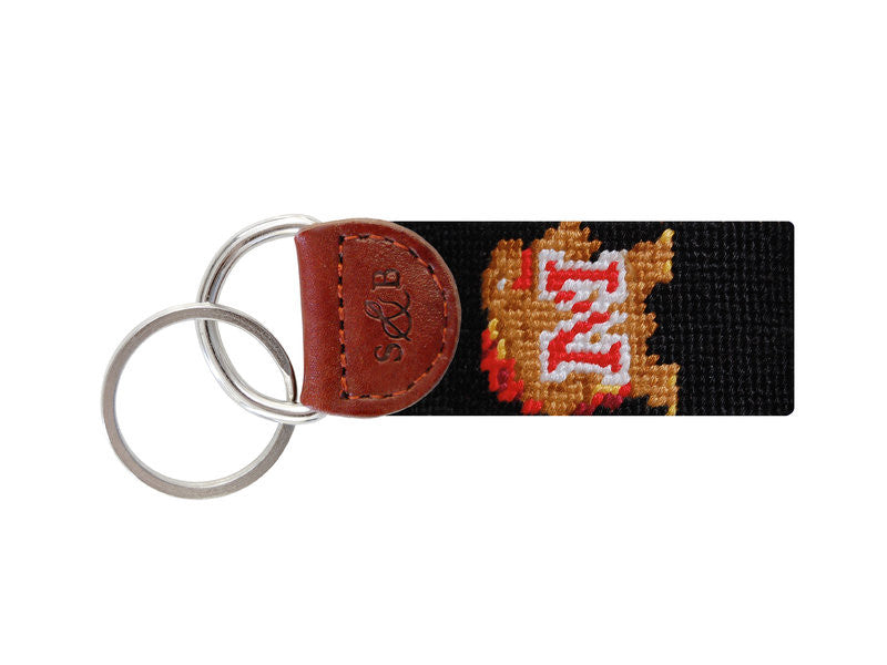 Maryland Needlepoint Key Fob-Key Fob-Sterling-and-Burke