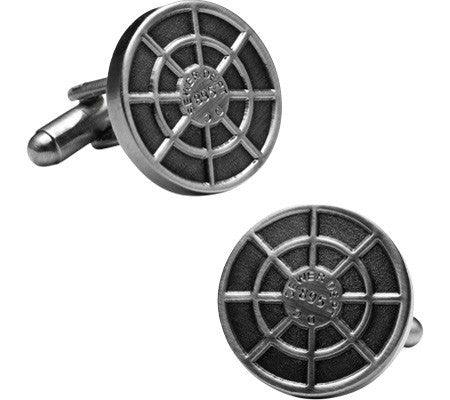 DC Manhole Cover Cufflnks-Cufflinks-Sterling-and-Burke