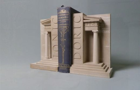 Doric and Iconic Order Bookends Sculpture Set | Custom Doric and Iconic Order Plaster Model | Extraordinary Quality and Detail | Made in England | Timothy Richards