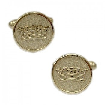 Duke's Crown Silver Classic Cufflinks-Cufflinks-Sterling-and-Burke