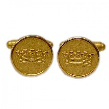 Duke's Crown Gilt Classic Cufflinks-Cufflinks-Sterling-and-Burke