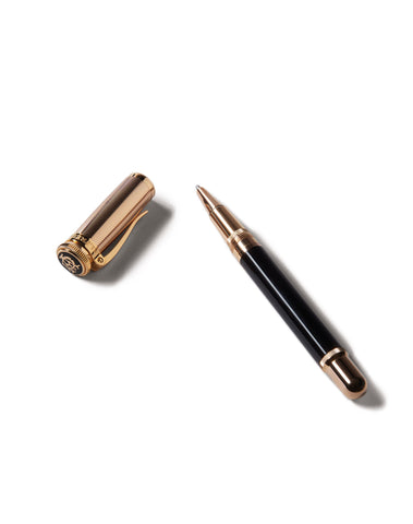 Dunhill Sentryman Diagonal Stroke Rollerball in Black and Rose Gold-Pen-Sterling-and-Burke