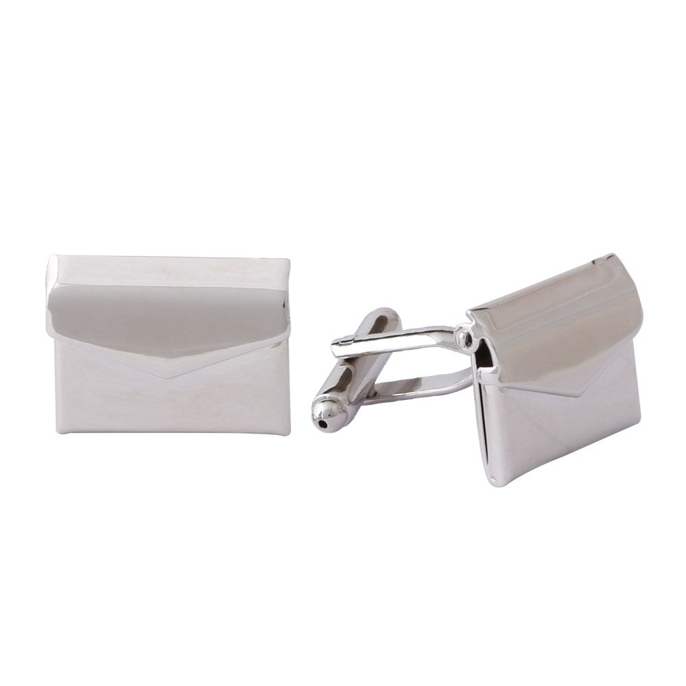 Novelty Cufflinks | Envelope Cufflinks | Silver | Sterling and Burke | Made in USA-Novelty Cufflinks-Sterling-and-Burke