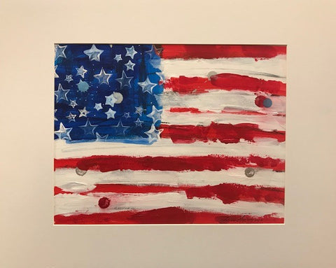 "Art | America-17-DC | Acrylic on Paper by Fabiano Amin | 11"" x 14"""