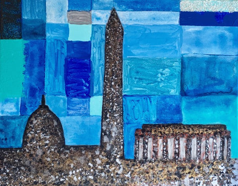 Blues 2017, Monuments, Original Art, 16 by 20 Inches