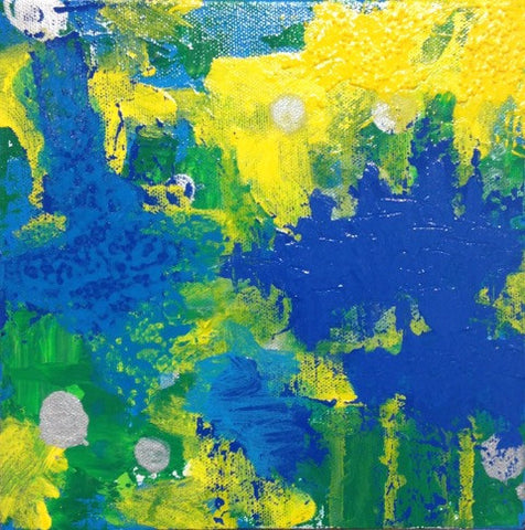 Brazil, Original Art, 8 by 8 Inches-Acrylic Painting-Sterling-and-Burke