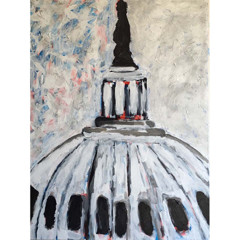 Capitol Dome, Original Acrylic on Canvas, 40 by 30 Inches