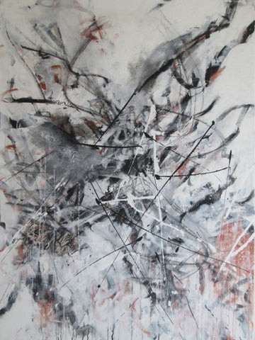 "Art | Dance | Acrylic Mixed on Canvas by Fabiano Amin | 48"" x 36""-Acrylic Painting-Sterling-and-Burke"