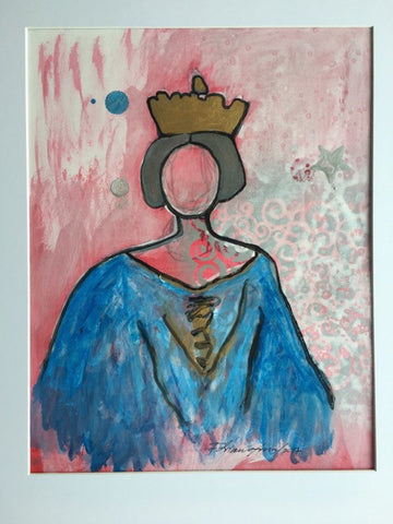 "Art | Georgetown Queen | Acrylic on Paper by Fabiano Amin | 14"" x 11"""