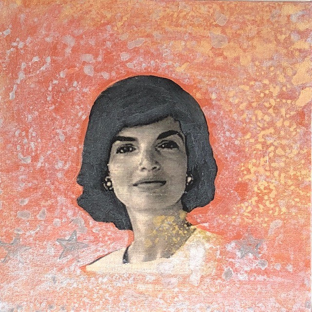 "Art | Jackie | Original Acrylic Mixed on Gallery Canvas by Fabiano Amin | 12 x 12""-Acrylic Painting-Sterling-and-Burke"