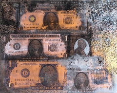 "Art | One Dollar 16 | Mixed Media on Gallery Canvas by Fabiano Amin | 16"" x 20""-Mixed Media-Sterling-and-Burke"