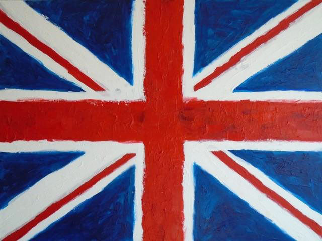 "Art | Union Jack | Original Acrylic on Gallery Canvas by Fabiano Amin | 30"" x 40""-Acrylic Painting-Sterling-and-Burke"