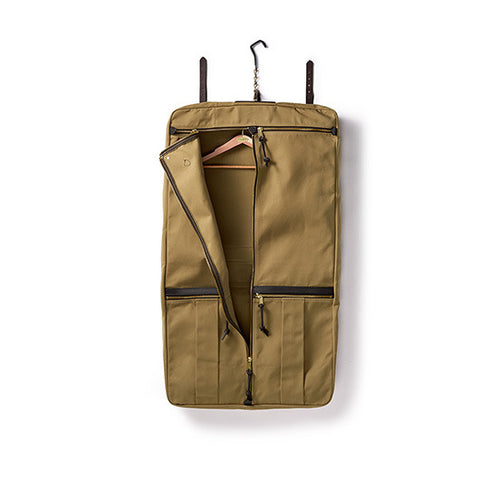 Leather and Twill Cloth Garment Bag by FILSON