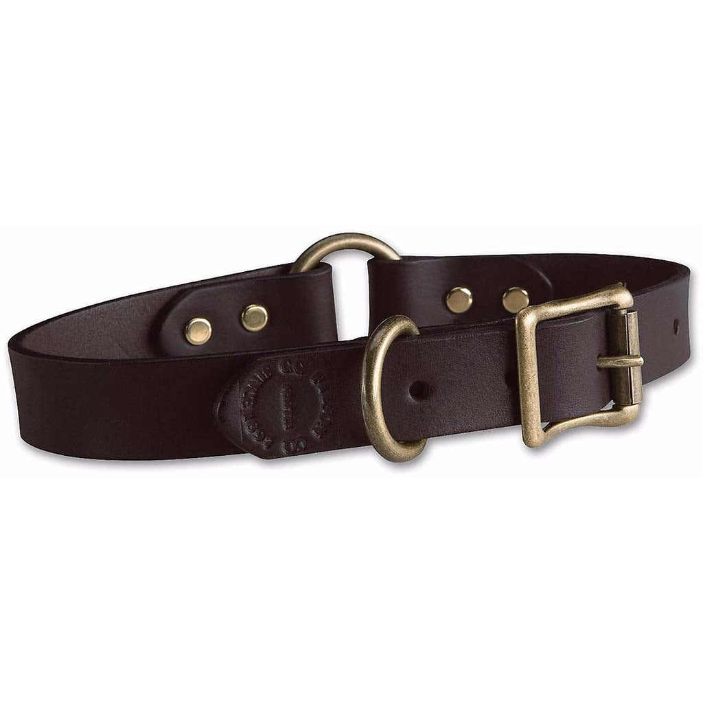 Leather Dog Collar | Brown | Filson | Made in USA-Dog Accessories-Sterling-and-Burke