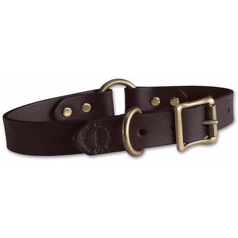 Leather Dog Collar | Brown | Filson | Made in USA