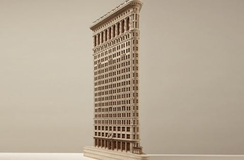 Limited Edition Flat Iron Building Sculpture | Custom Flat Iron Building Plaster Model | Extraordinary Quality and Detail | Made in England | Timothy Richards