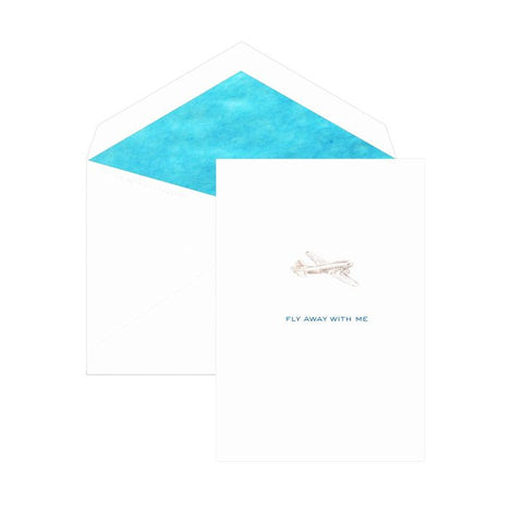 """Fly away with me"" Single Card by Dempsey & Carroll"
