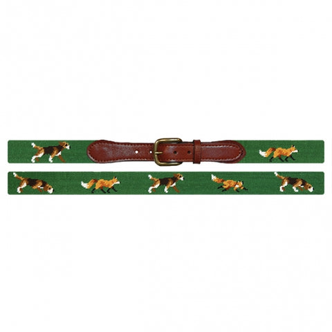 Fox and Hound Needlepoint Belt-Belt-Sterling-and-Burke