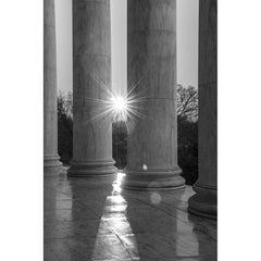 Lincoln Memorial Columns with Sun, Photograph, 16 by 20 inches by Frank Ruggles-Photography-Sterling-and-Burke