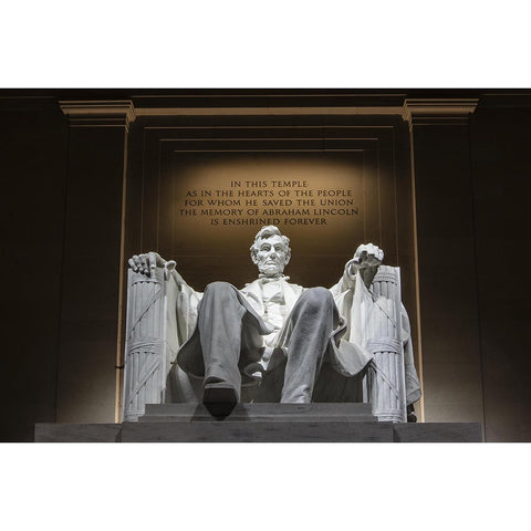 "Seated Lincoln | Photograph by Frank Lee Ruggles | 28"" x 36"""