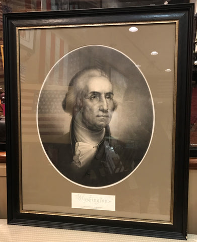 "George Washington Portrait | Lithograph | After the Painting by Rembrandt Peale | 36"" x 30""-Lithograph-Sterling-and-Burke"