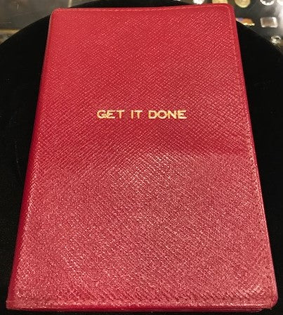 "Crossgrain Refillable Leather Notebook, 6x3, ""Get It Done"""