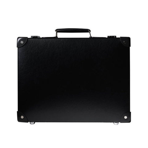 "Globe-Trotter Centenary 16"" Slim Attache Case in Black"
