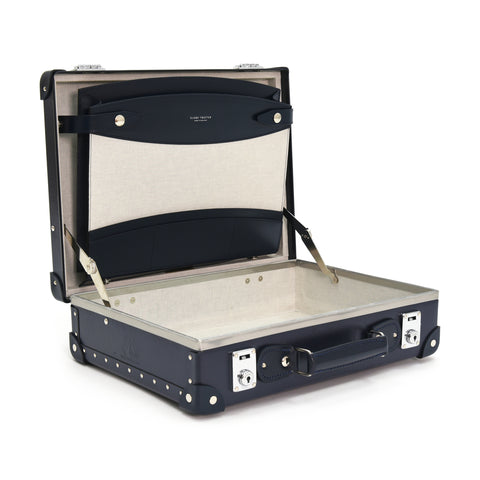 "Globe-Trotter Centenary 16"" Slim Attache Case in Navy-Attache-Sterling-and-Burke"