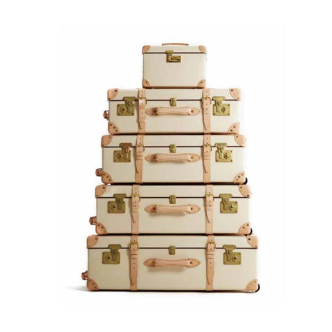 Safari Suitcase Collection | Ivory and Natural | Globe-Trotter Luggage