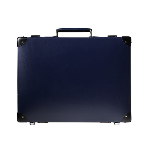 "Globe-Trotter Original 16"" Slim Attache Case in Navy"