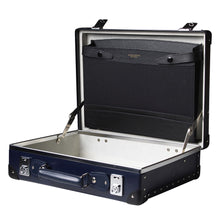 "Load image into Gallery viewer, Globe-Trotter Original 16"" Slim Attache Case in Navy-Suitcase-Sterling-and-Burke"