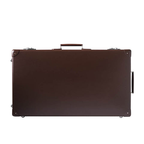 "Globe-Trotter Original 30"" Suitcase with Wheels in Brown"