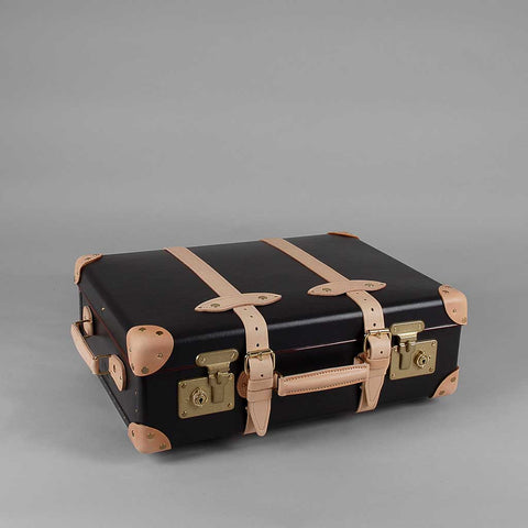 Safari Collection | 20 Inch Trolley Suitcase | Ivory | Brown | Globe-Trotter Luggage-Wheeled Luggage-Sterling-and-Burke