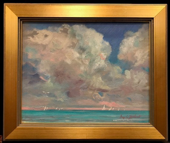 Big Blue (Bahama's), Original Oil Painting, framed in gold, 8 by 10 Inches by Guy Fairlamb-Oil Painting-Sterling-and-Burke