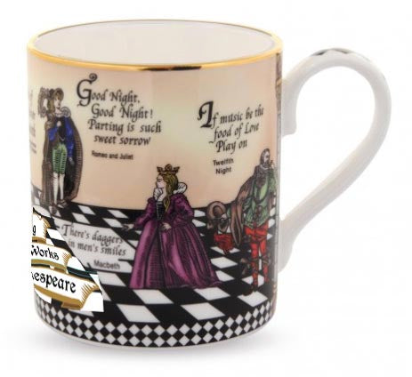 Fine English Bone China | Shakespeare Mug | Halcyon Days | Made in England-Mug-Sterling-and-Burke